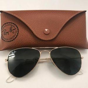 Ray-Ban Arista RB3044 Gold Small Aviator Sunglasse